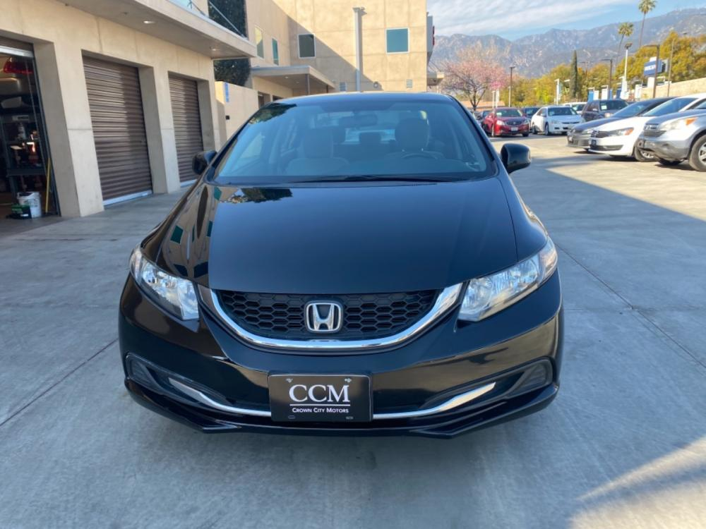 2013 Black /gray Honda Civic LX Sedan 5-Speed AT (19XFB2F57DE) with an 1.8L L4 SOHC 16V engine, 5-Speed Automatic transmission, located at 30 S. Berkeley Avenue, Pasadena, CA, 91107, (626) 248-7567, 34.145447, -118.109398 - Photo #0