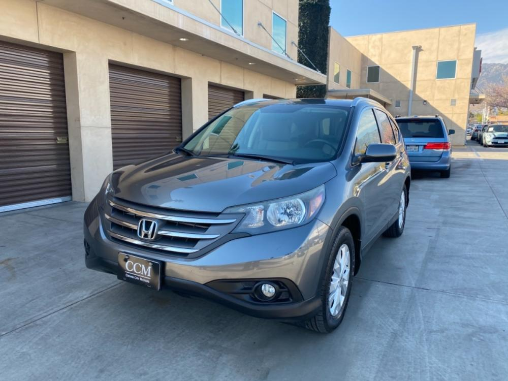 2012 Grey /Gray Honda CR-V EX-L 2WD 5-Speed AT (JHLRM3H78CC) with an 2.4L L4 DOHC 16V engine, 5-Speed Automatic transmission, located at 30 S. Berkeley Avenue, Pasadena, CA, 91107, (626) 248-7567, 34.145447, -118.109398 - Photo #0