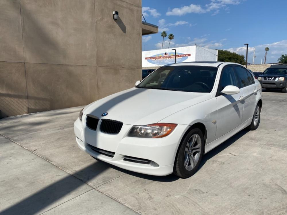 2008 White /Black BMW 3-Series 328i (WBAVA33538K) with an 3.0L L6 DOHC 24V engine, Automatic transmission, located at 30 S. Berkeley Avenue, Pasadena, CA, 91107, (626) 248-7567, 34.145447, -118.109398 - Photo #0